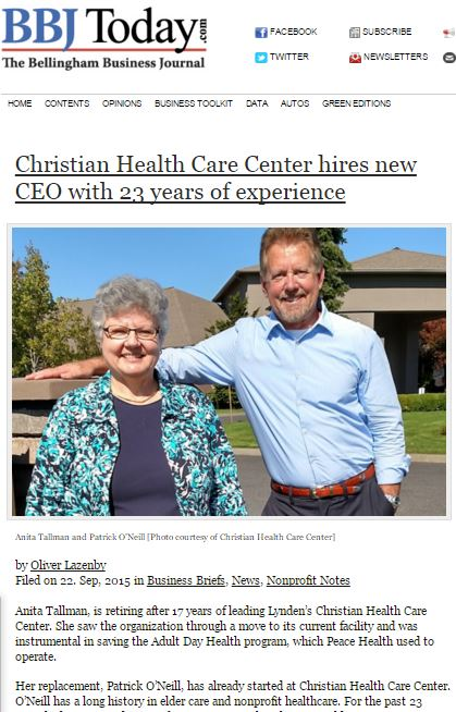 Christian Health Care Center hires new CEO with 23 years of experience
