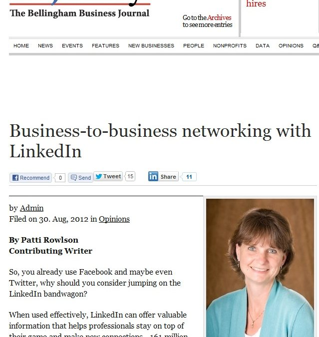 Business-to-business networking with LinkedIn