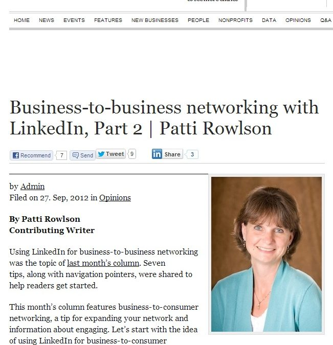 Business-to-Consumer Networking with LinkedIn
