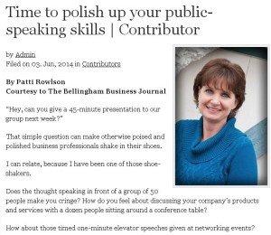 Polish up your public speaking skills