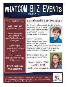 September Workshop - Social Media Best Practices
