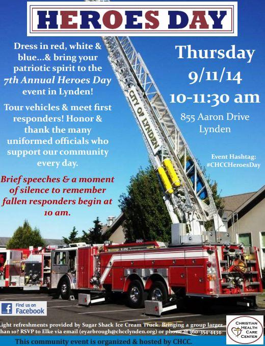 Heroes Day, September 11, 2014