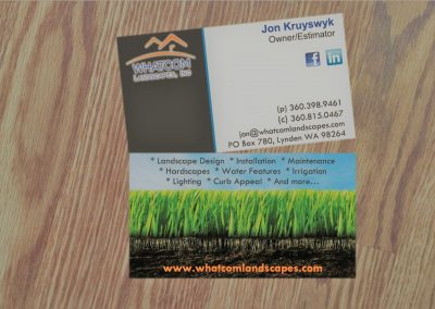 Business card for landscape business