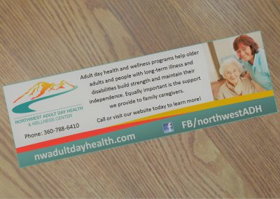 Print ad for adult day health program