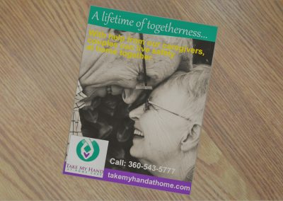 Print ad for caregiver services in Whatcom County