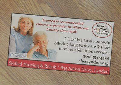 Print ad for healthcare organization