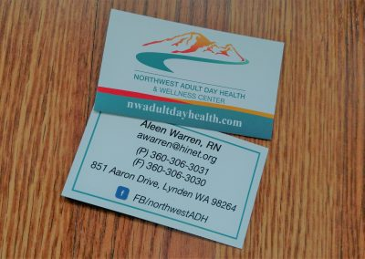 Business card for healthcare organization