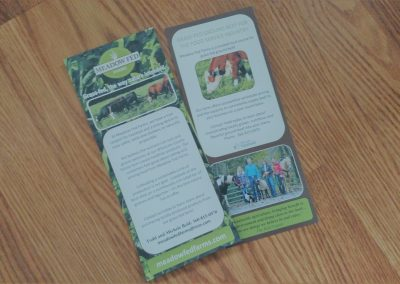 Rack card for local farm