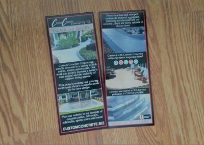 Rack card for construction company