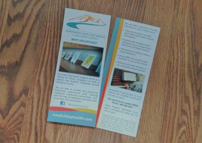 Rack card for healthcare organization