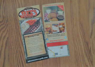 Rack card for restaurants