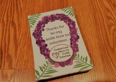 Postcard invitation for healthcare organization