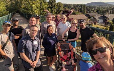 Networking trail walk in Bellingham: June 28, 2018